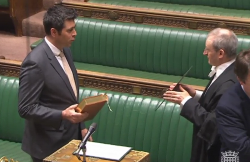 Scott Mann sworn in as MP 2019